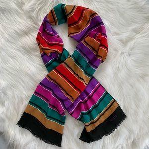 Vintage 100% Silk Rainbow Scarf